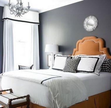 помаранчеве узголів`я ліжка