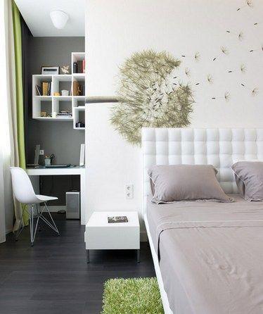 ліжко з білим узголів`ям