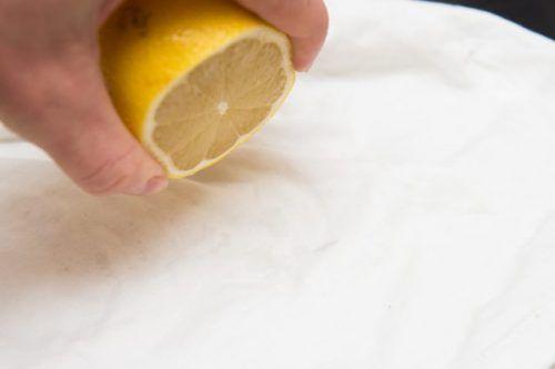 Лимон для видалення плям