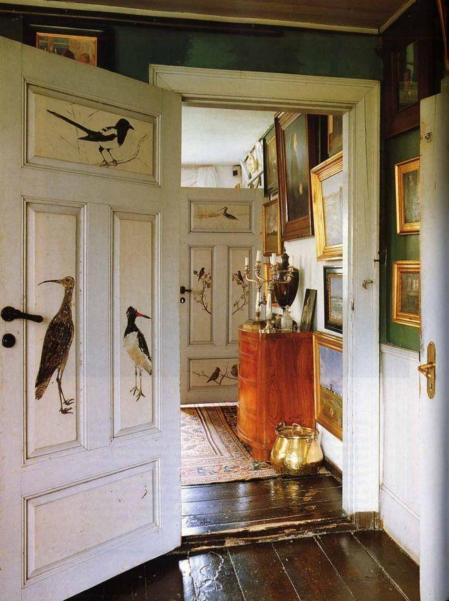 як зробити декупаж двері