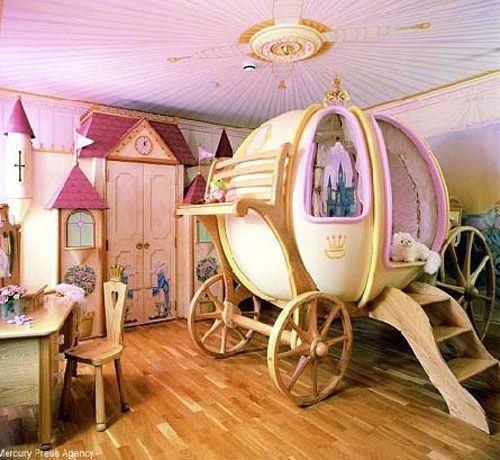 Дизайн дитячої кімнати для дівчинки - рожевий для принцеси, фото