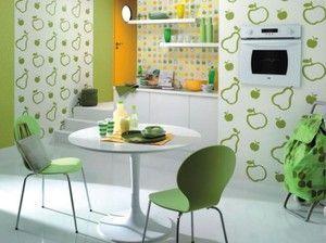 Дизайн інтер`єру для кухні за допомогою шпалер і кольору