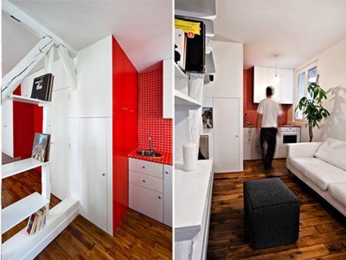 Дизайн інтер`єру маленької квартири в парижі