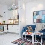 маленька кухня-вітальня
