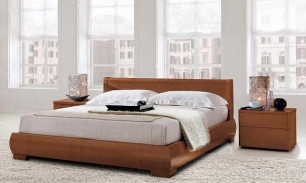 Ліжко в стилі модерн з масиву дерева