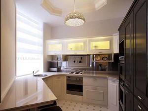 Фото дизайну кухні 6 кв. Метрів