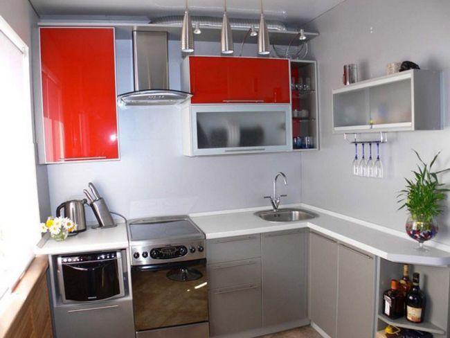 Кутові кухні в хрущовці після ремонту