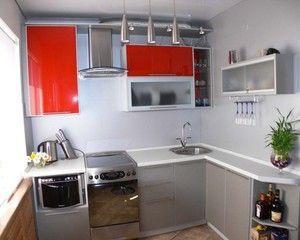 Кутова малогабаритна кухня в стилі модерн