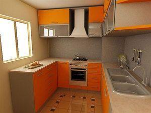 Маленька П-образна кухня