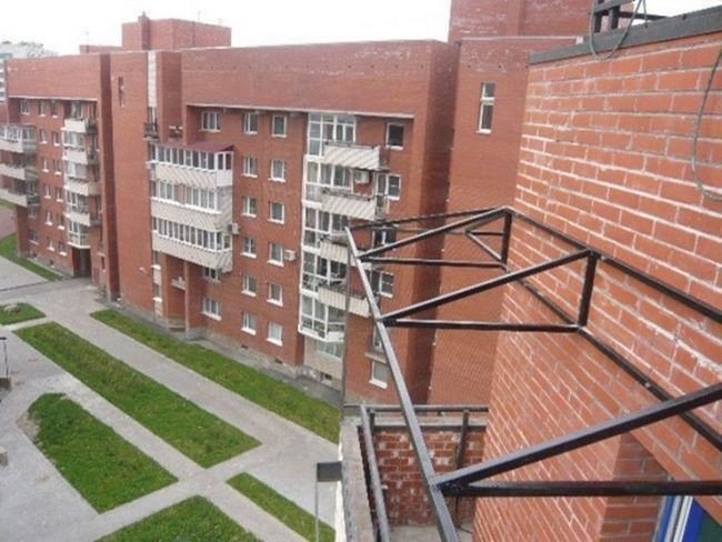 Каркас незалежної даху для балкона