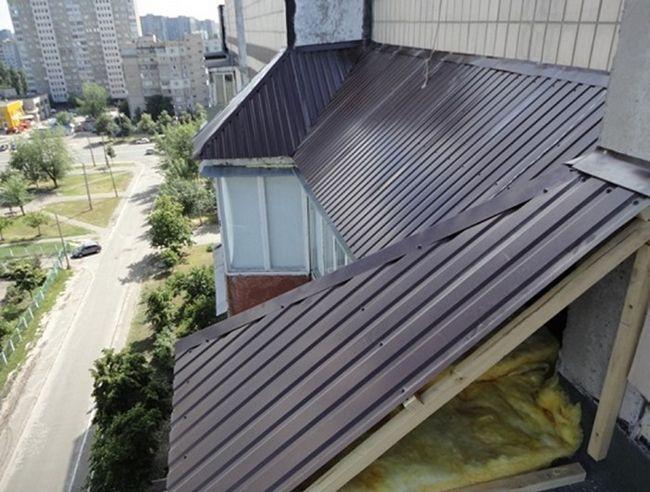 Як утеплити дах балкона