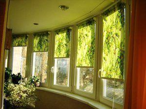 Зелені рулонні штори