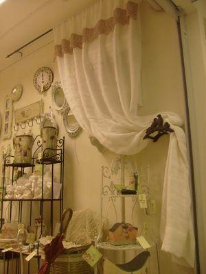 Красиві штори в стилі Прованс на кухні