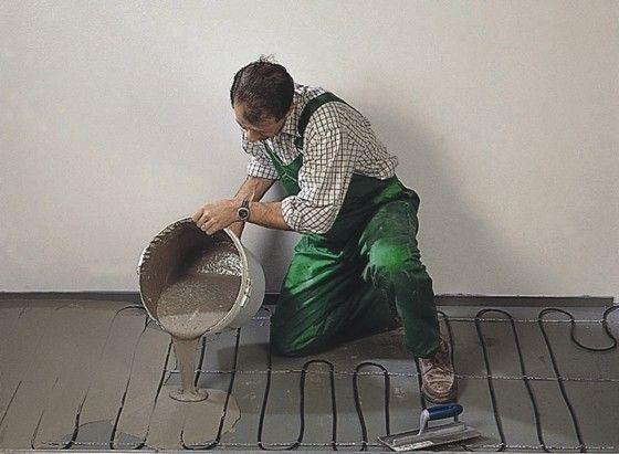 Монтаж теплої підлоги під стяжку