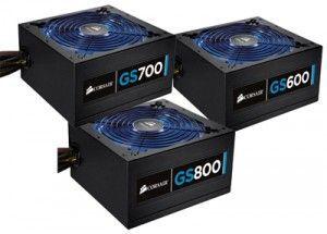 Блоки живлення Corsair для ігрового комп`ютера: GS600, GS700, GS800