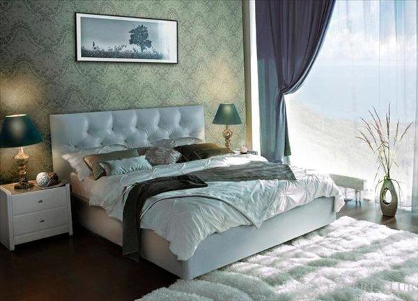 Шкіряне узголів`я для ліжка в стилі «модерн»