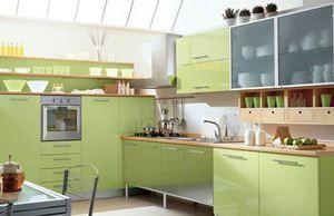 Кухні оливкового кольору: варіанти дизайну і фото