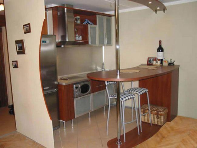 Де розмістити барну стійку на кухні