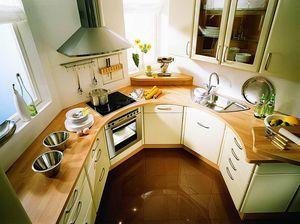 Дизайн маленької кутової кухні