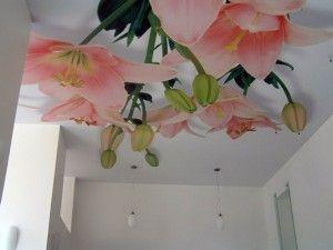 3d квіти на стелі