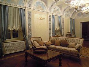 Австрійські штори для вітальні