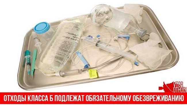 Медичні відходи класу Б