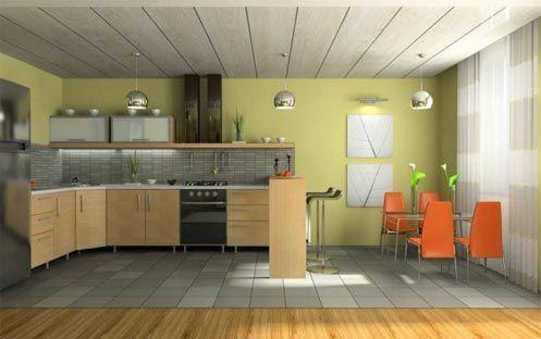 Пластикова стеля з панелей на кухню