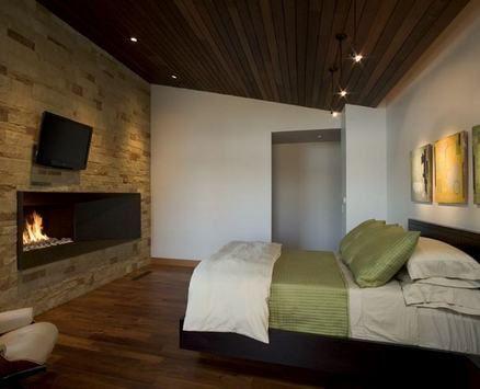 дерев`яна стеля в спальні