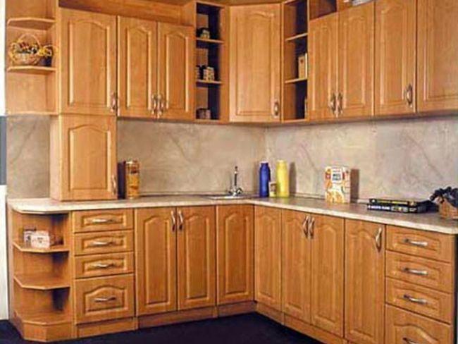 Дизайн кутовий кухні в стилі арт-деко