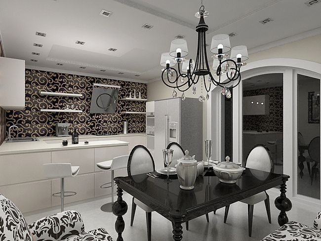 Строгість і елегантність кухні в стилі арт-деко