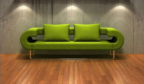 Зелений колір в інтер`єрі