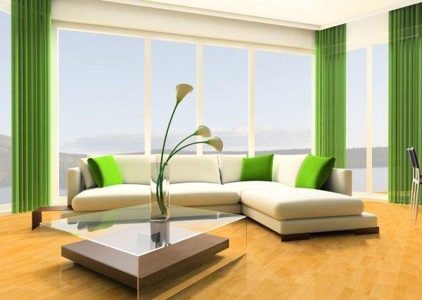 Інтер`єр вітальні в зеленому кольорі