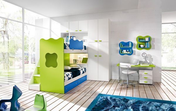 Інтер`єр дитячої кімнати в зеленому кольорі