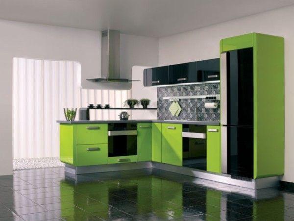 Інтер`єр кухні в зеленому кольорі