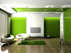 Зелений колір в інтер`єрі фото