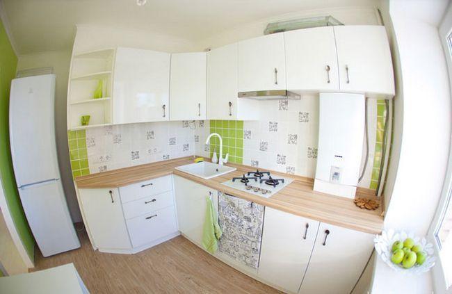 Ремонт на кухні 6 кв м - до і після