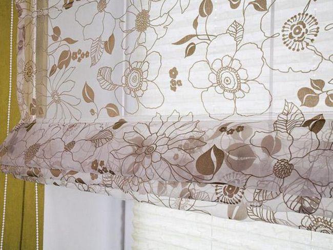 Забарвлення римської штори