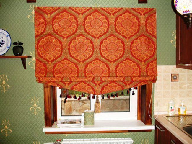 Вибір штор в римському стилі