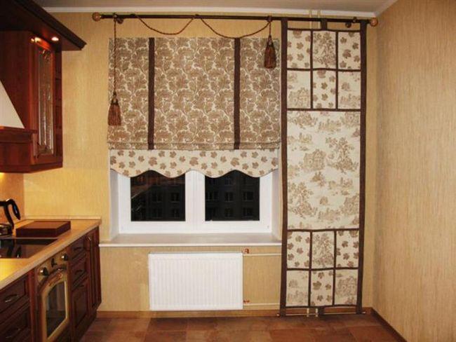 Дизайн кухні - римські штори