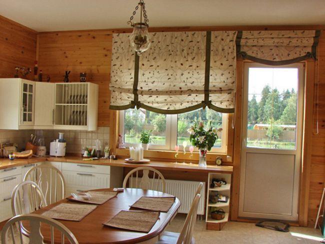 Як оформити кухню за допомогою римських штор
