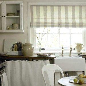 Класичні римські штори на кухні