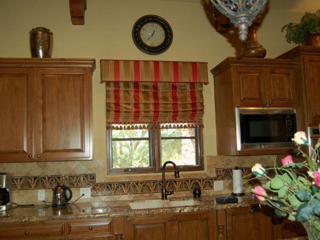 Римські штори в інтер`єрі кухні