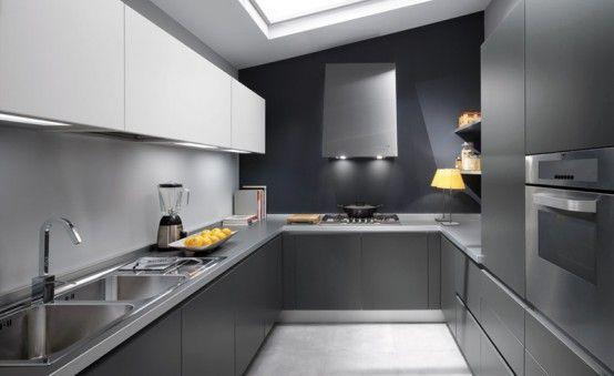 Інтер`єр кухні в сірих тонах