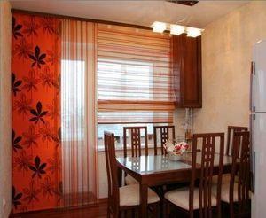 Комбінований варіант штор для кухні