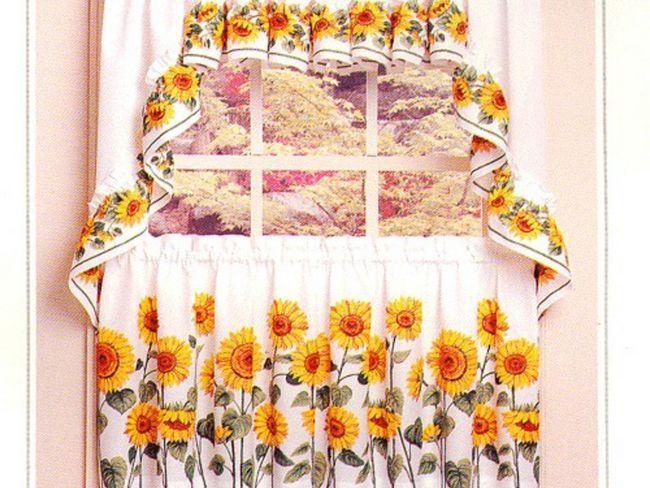 Ідея соняшників на шторах