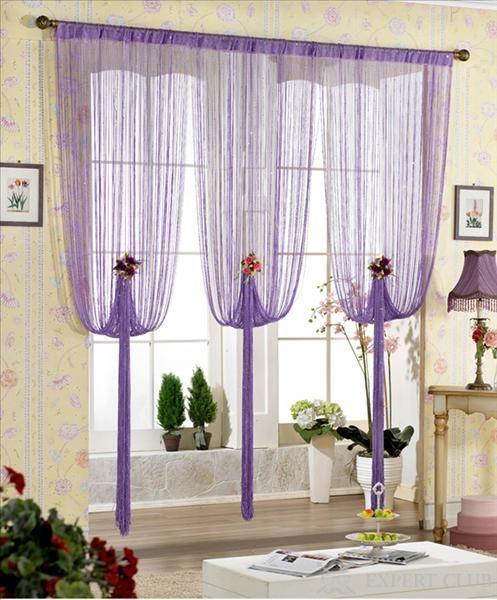 Один з варіантів фігурної підвіски нитяних штор