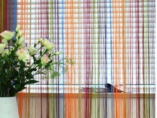 Ніжні кольори Нитяні штори