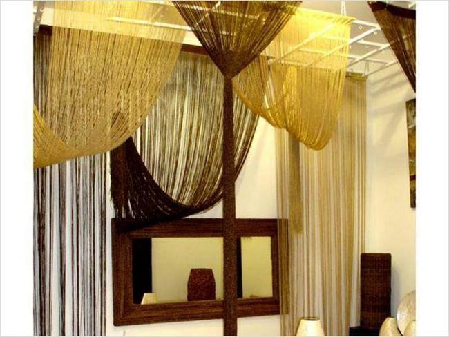 Декоративні мотузкові штори