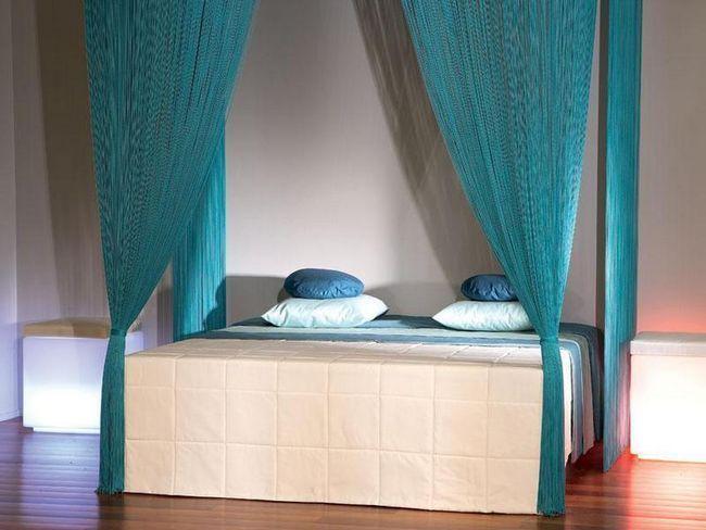 Над ліжкові Стек гілок штори