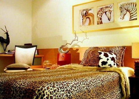 декор спальні в африканському стилі